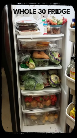 Whole 30 fridge
